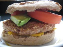 Dressed burger