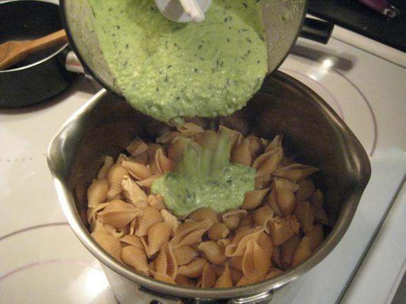 Pouring Pesto