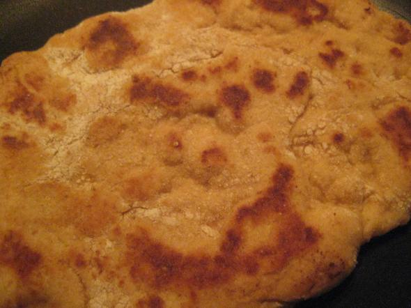 Naan up close