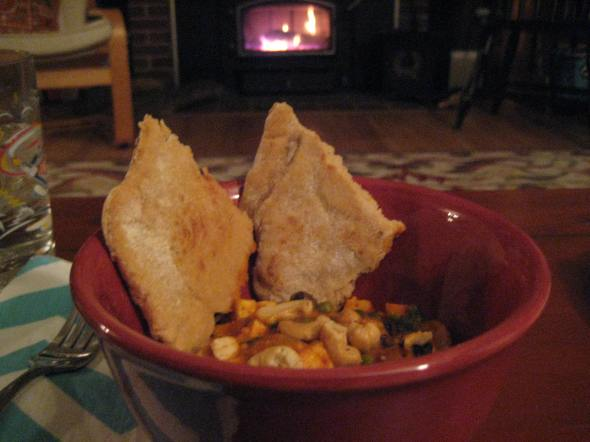 Curry and Fireplace