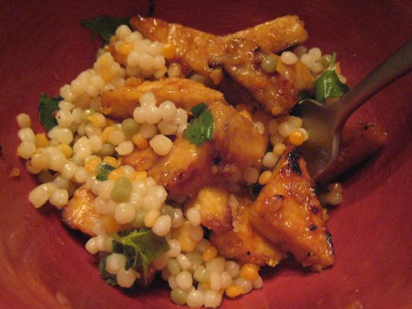 Tempeh over Couscous