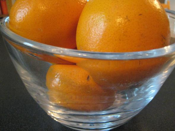 Oranges in Bowl