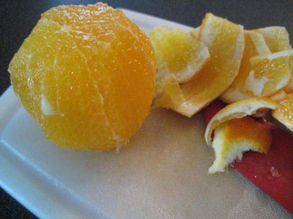 Peel orange