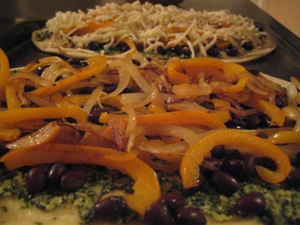 Cilantro Pesto Pizza Assembly - Small World Supper Club