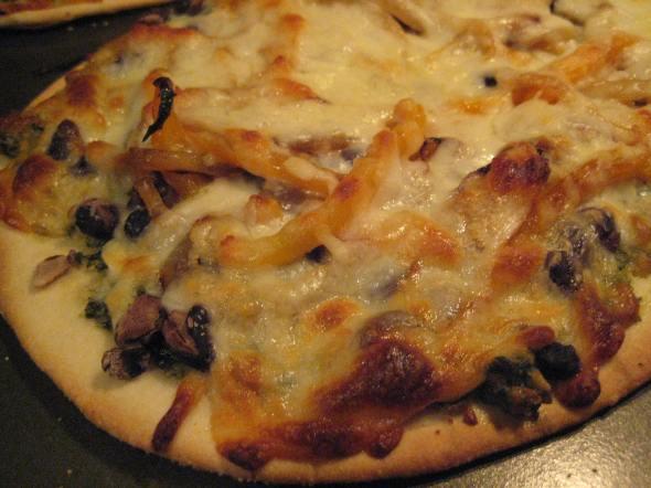 Cilantro Pesto Pizza - Small World Supper Club