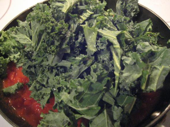 Kale and Tomatoes