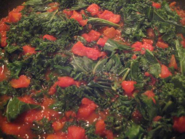 Sauteéd Tomato Kale