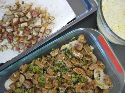 Potato Leek Sausage Strata - Small World Supper Club