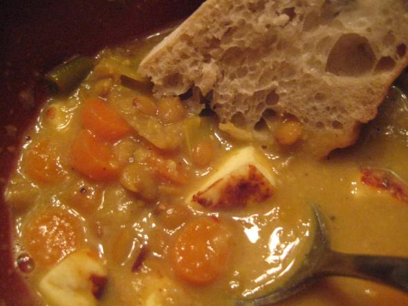 Paneer, Lentil Soup, Bread - Small World Supper Club
