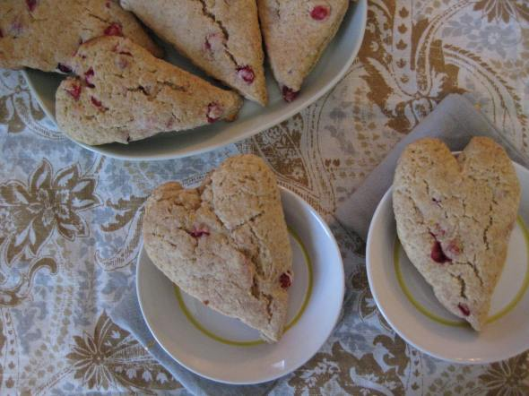 Cranberry Lemon Heart Scones || Small World Supper Club