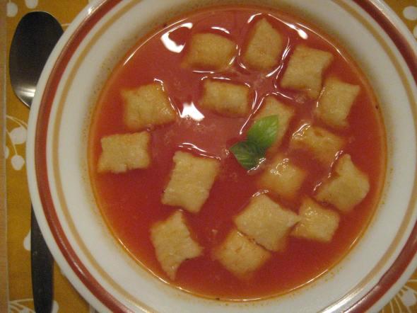Gnocchi in Tomato Broth