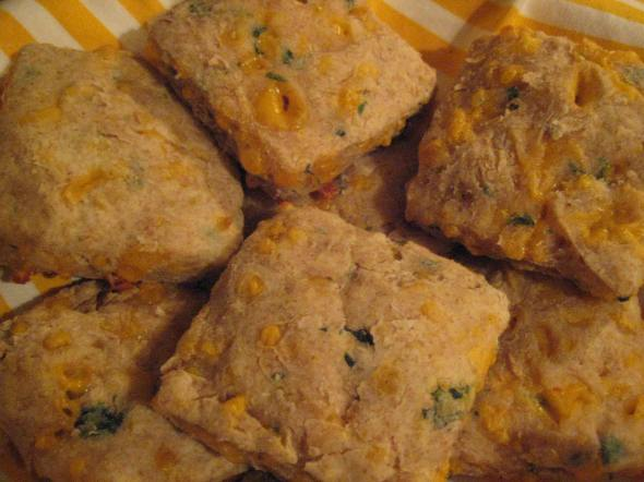 Cheddar Cilantro Biscuits
