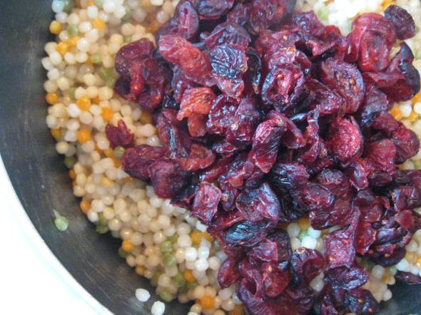 Cooked Cous Cous with Cranberries