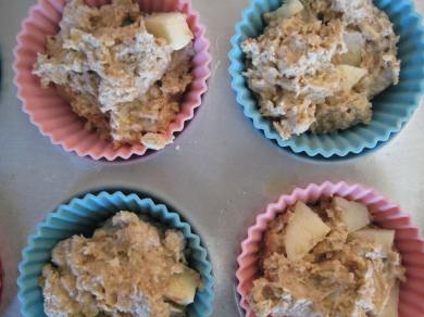 Unbaked Apple Oat Muffins