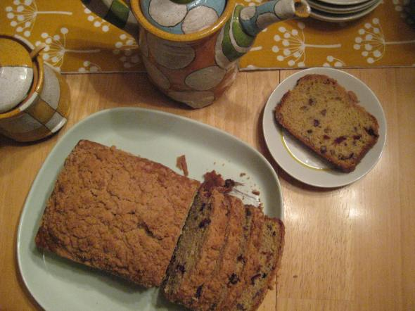 Orange Cran Coffee Cake with Pecans