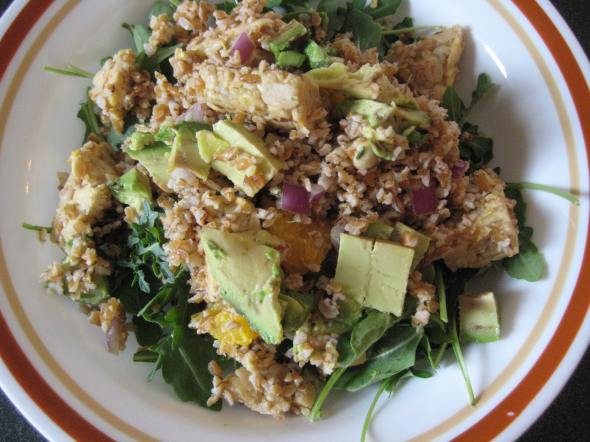 Bulgur and Tempeh Salad