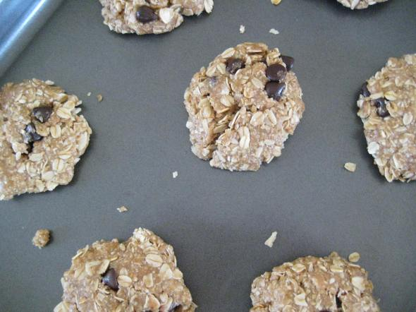 Unbaked Browned Butter Oatmeal Cookies