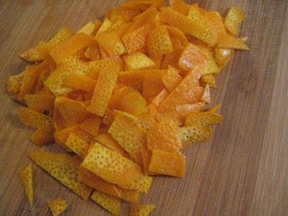 Orange Zest for Candying