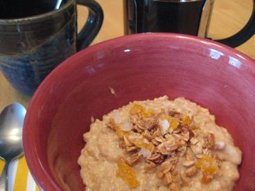 Candied Zest in Granola over Oatmeal