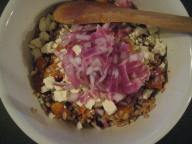 Farro Salad pile