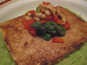 Grilled Tofu with Asparagus Purée || Small World Supper Club