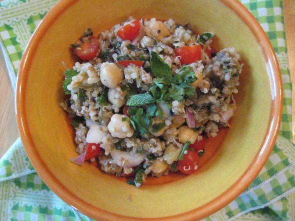 Tabbouleh with Roasted Eggplant and Chickpeas || Small World Supper Club