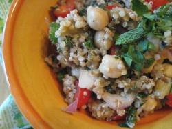 Tabbouleh with Roasted Eggplant and Chickpeas    Small World Supper Club