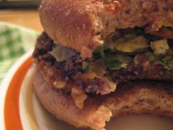 Bulgur Black Bean Burger + Brussels Slaw || Small World Supper Club