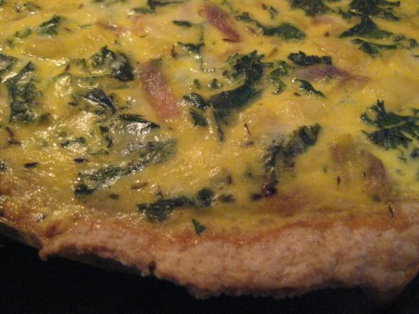 Kale and Potato Quiche in a Whole Wheat Pie Crust || Small World Supper Club