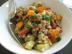 Wheat Berry Chickpea Salad || Small World Supper Club