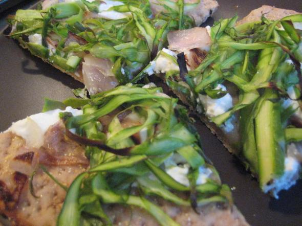 Shaved Asparagus and Ricotta Pizza || Small World Supper Club