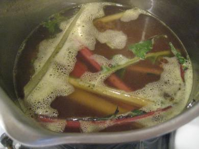 Veggie Stock with Chard Stems