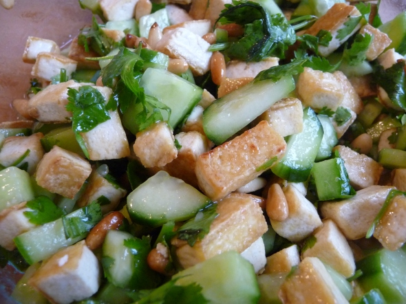 Cucumber Avocado Tofu Salad || Small World Supper Club