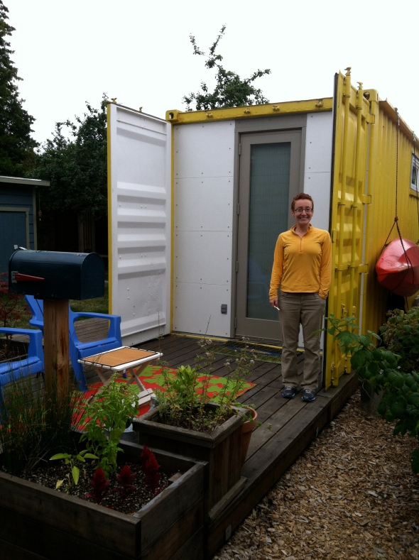 Big Yellow Shipping Container
