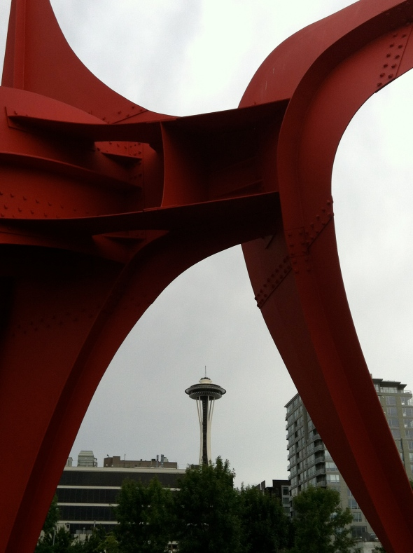 Space Needle through the Sculpture Park