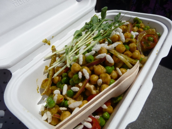 Vij's Rice Puff and Chickpea Salad