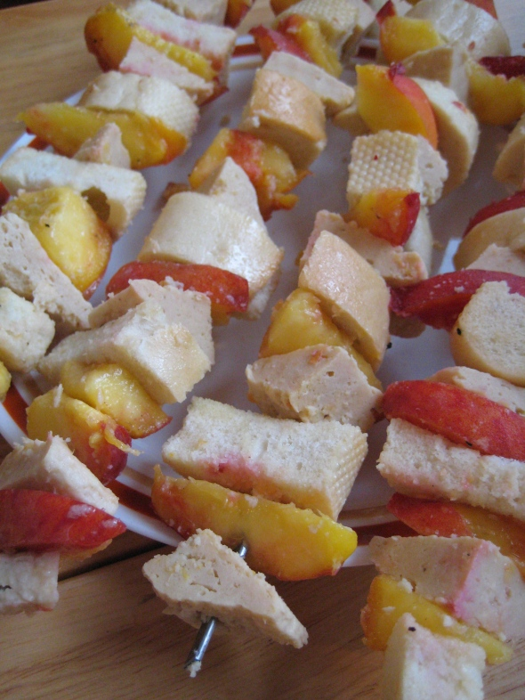 Peach, Bread, Chicken Skewers || Small World Supper Club