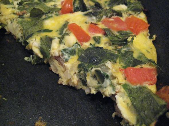 Collard and Tomato Frittata || Small World Supper Club