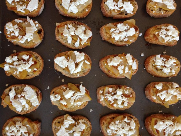 We loved Ottolenghi's simple pear-goat cheese crostini so much, we made them three times in a few weeks!