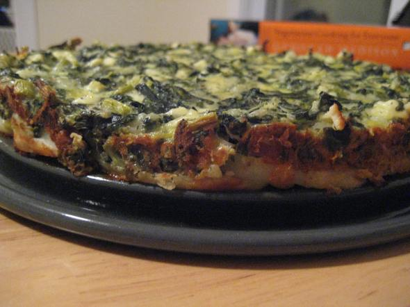 Our springform pan debut was Deborah Madison's yummy spinach torta with a potato crust.