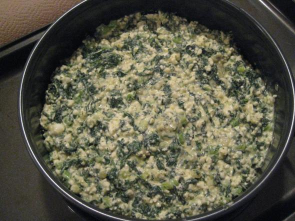 Pre-Baked Spinach Torta