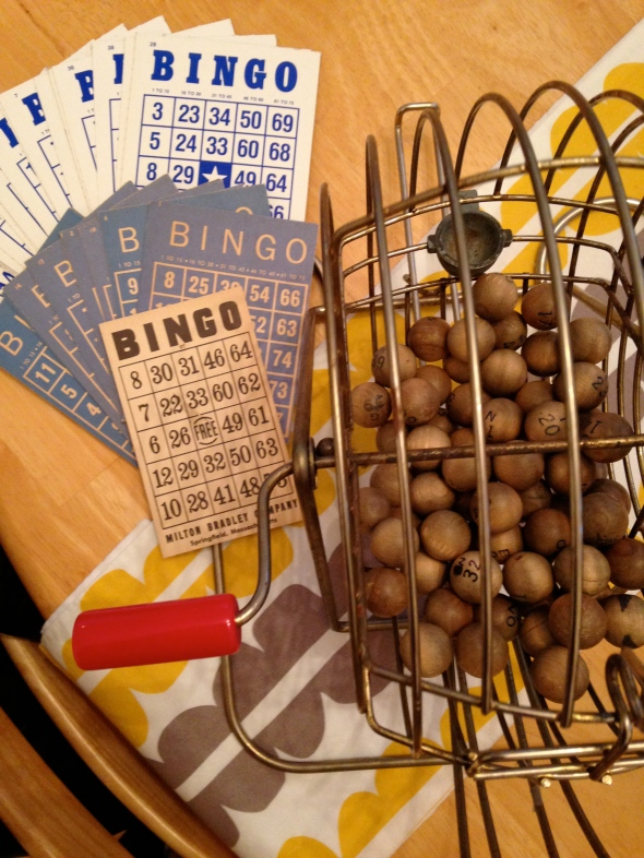 Vintage Bingo Set || Photo by Small World Supper Club