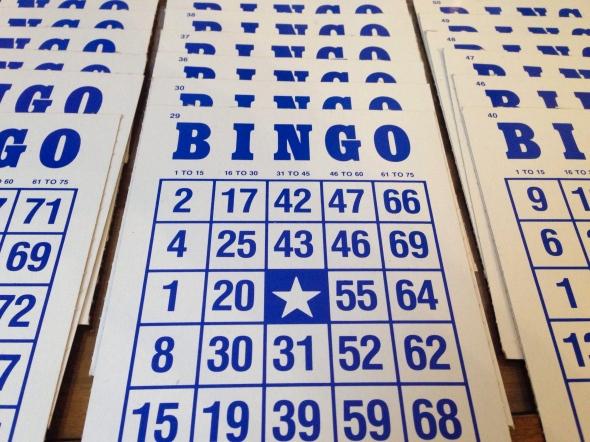 Bingo Cards    Photo by Small World Supper Club