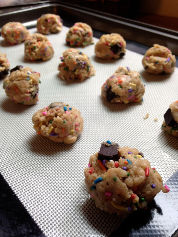 PB Choco Chip Sprinkle Cookies || Small World Supper Club