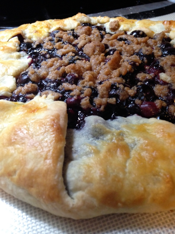 Blueberry Galette with Streusel